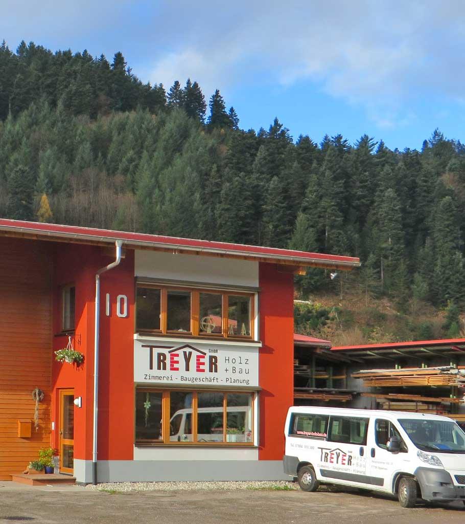 Firmengebäude der Treyer GmbH Holz + Bau in Oppenau-Ramsbach